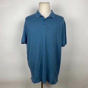 Vince Heather Blue Polo Shirt